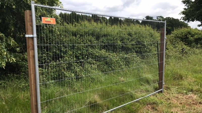 Wooden Post & Heras Panel Fencing